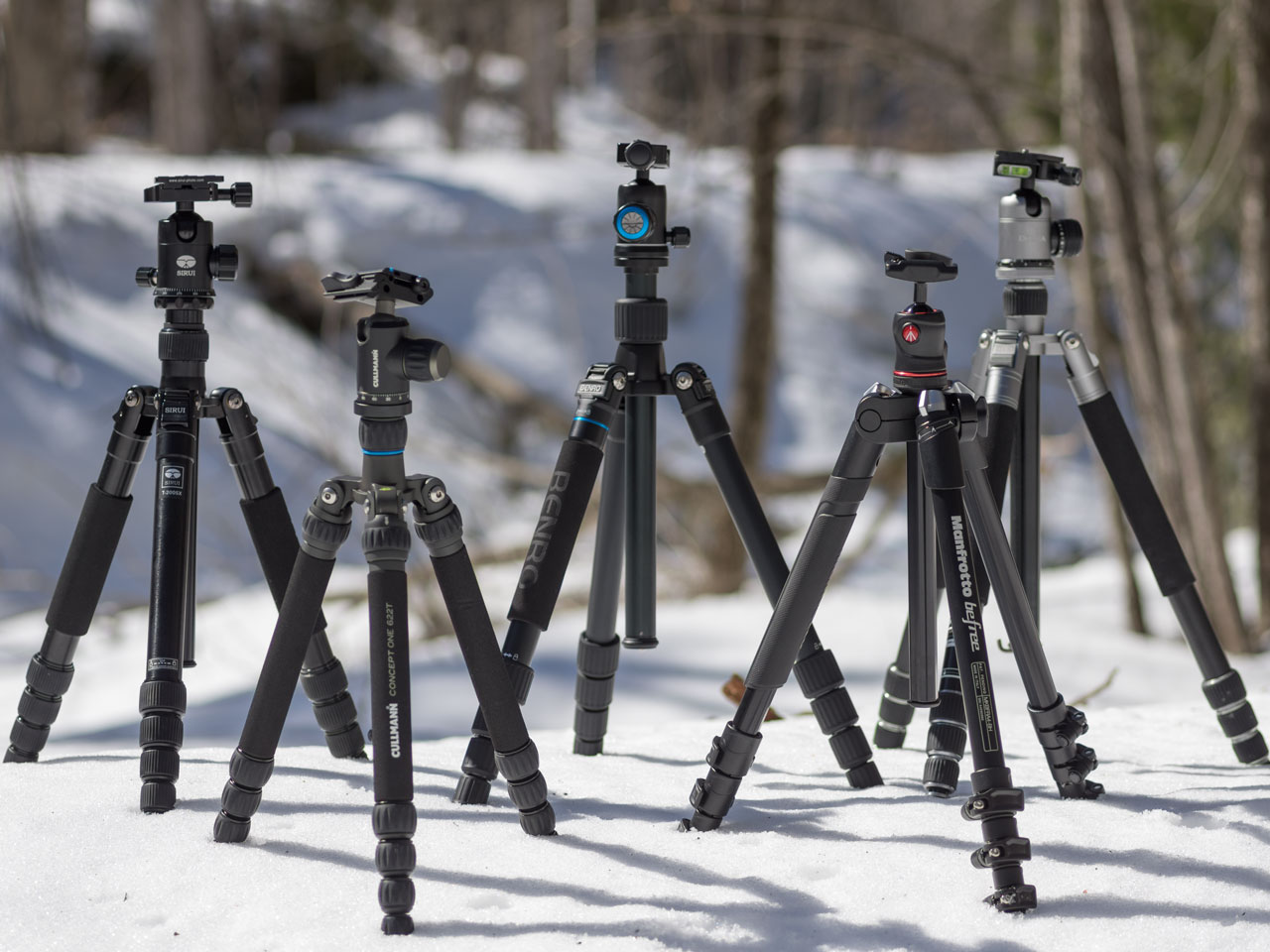 Travel Tripods Comparing 5 Aluminum Kits Digital Photography Review