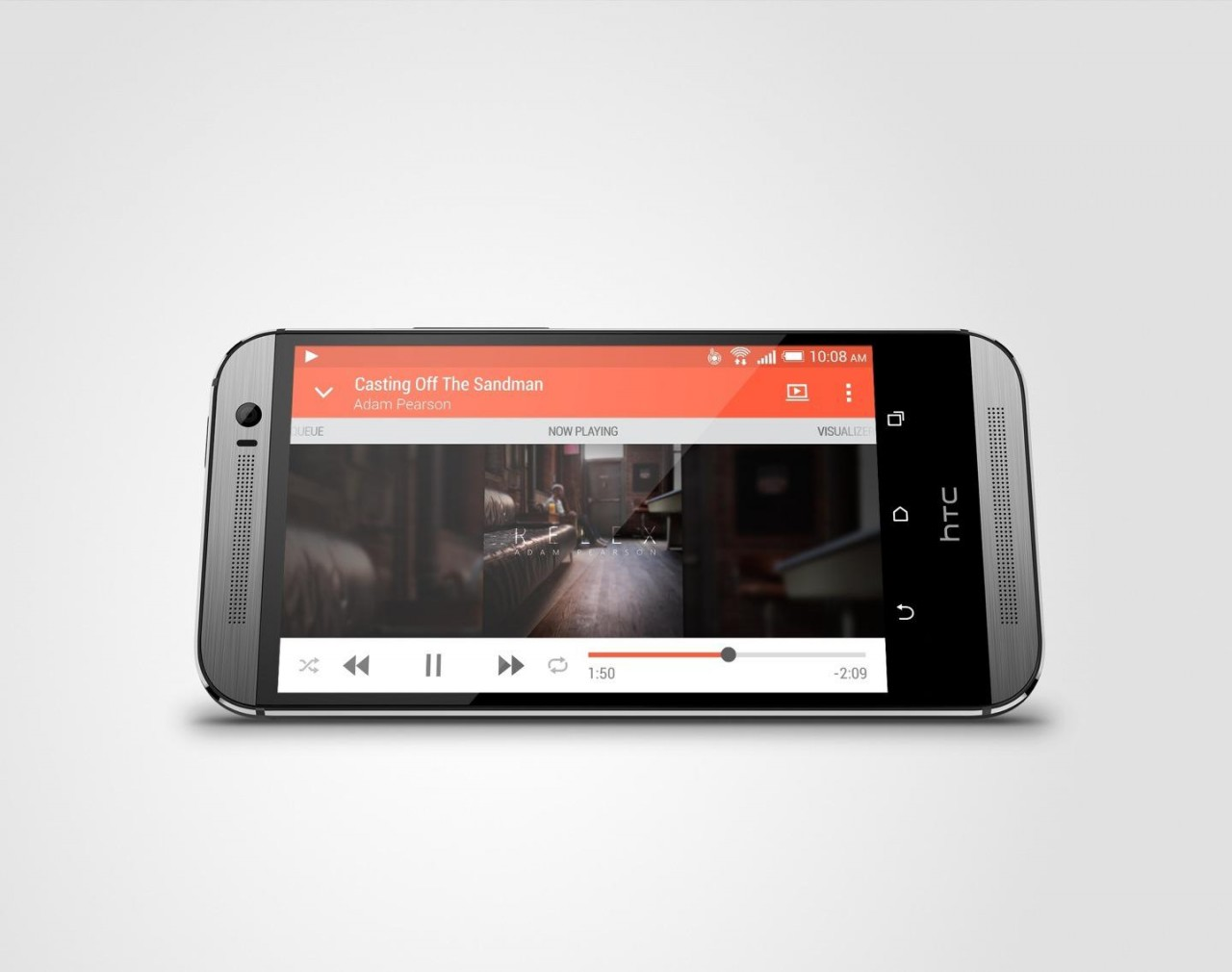 htc 831c. the stereo front speakers come with 25% larger audio chambers for more volume. htc 831c