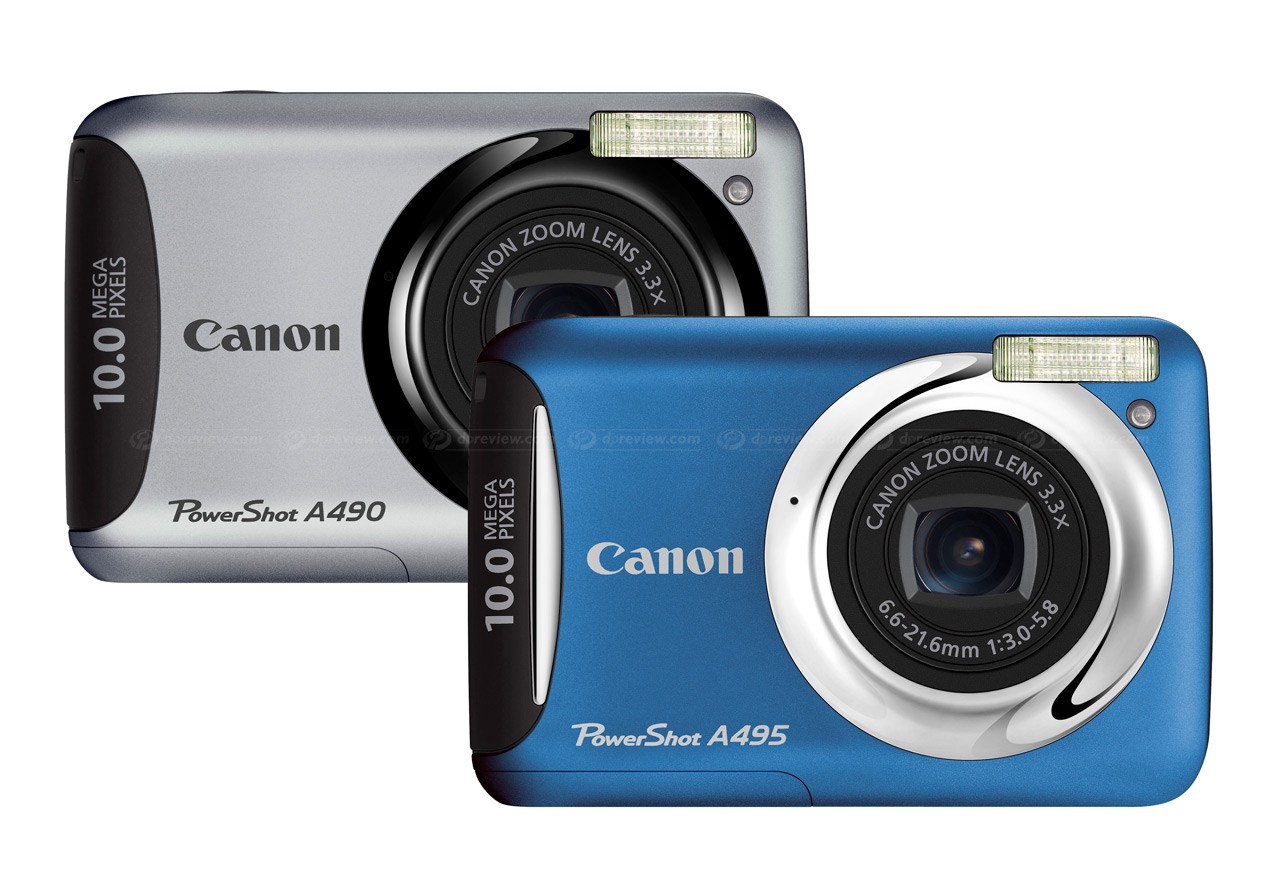 canon unveils a490 and a495 10mp budget compacts digital rh dpreview com Best Canon PowerShot Camera Canon PowerShot