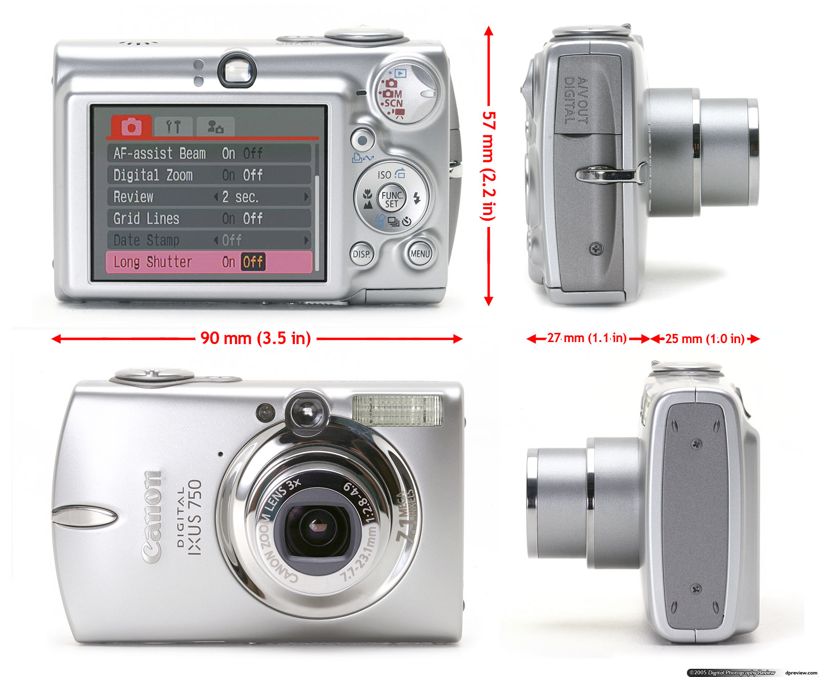 The SD500 broke away from the boxy styling of previous IXUS / Elph models  with what Canon's marketing department christened a 'Perpetual Curve'  design ...
