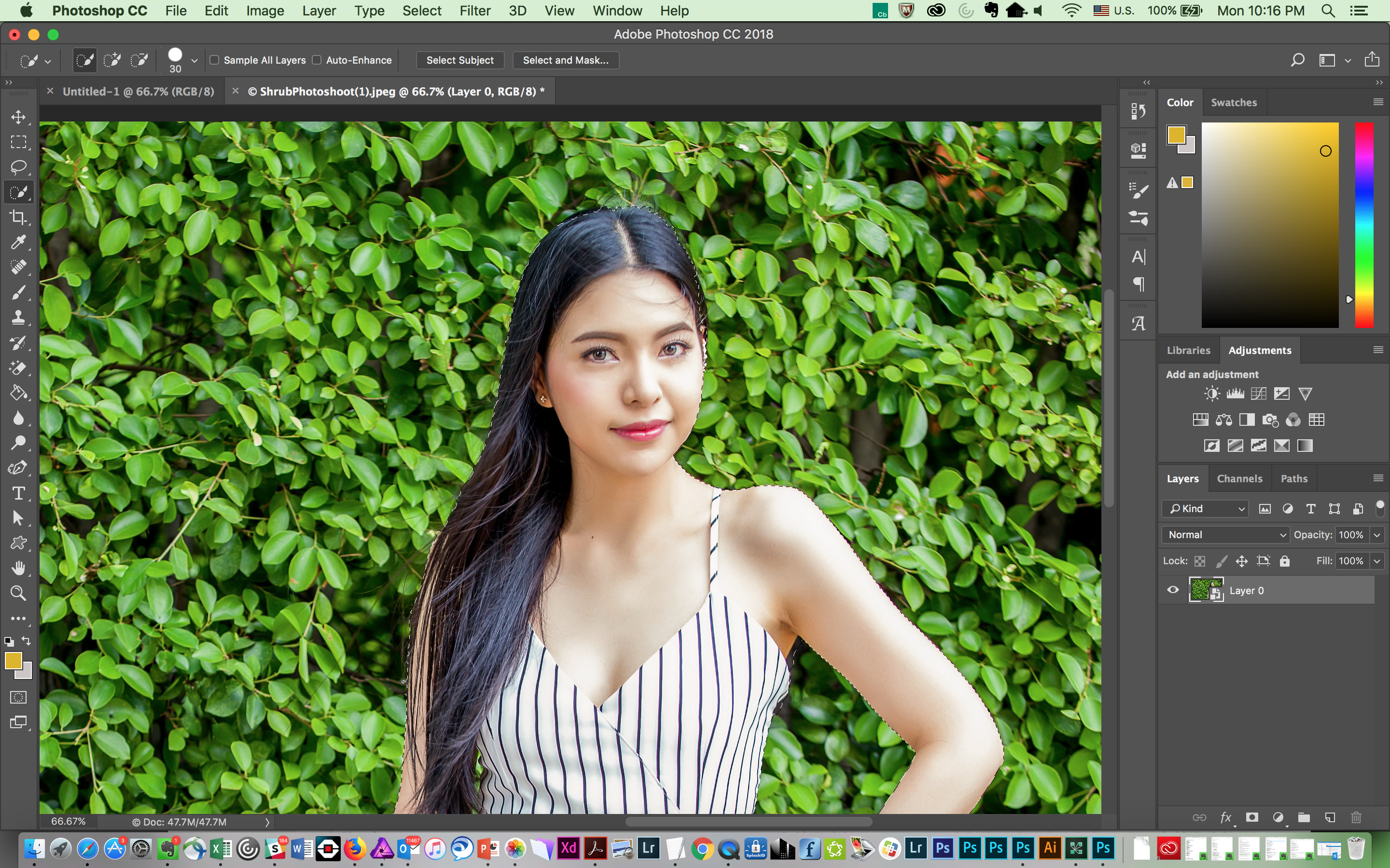 Photoshop cc update adds ai powered subject selection tool and of course more difficult scenarios where the subject isnt so obviously delineated against the background will give select subject more troublethe baditri Images